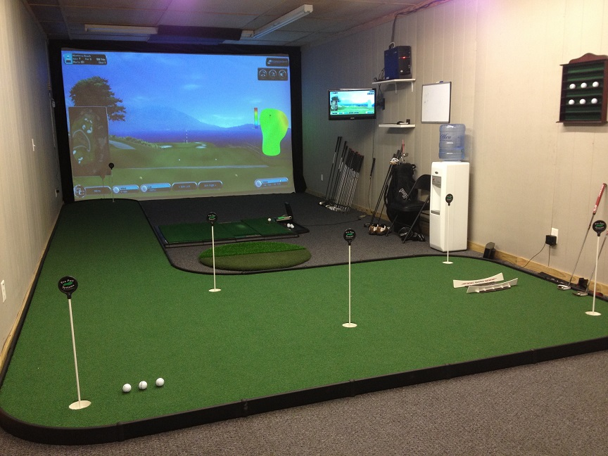 indoor golf room