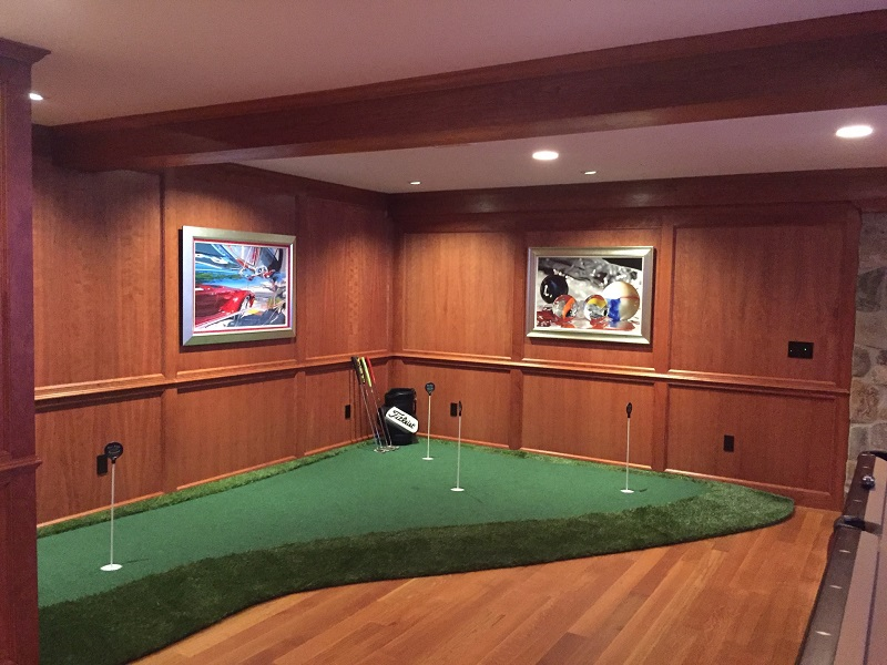 Golf rooms the ultimate golf man cave for Bedroom design simulator free